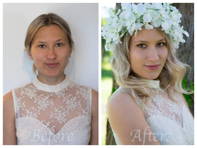 bridal hair and makeup makeover