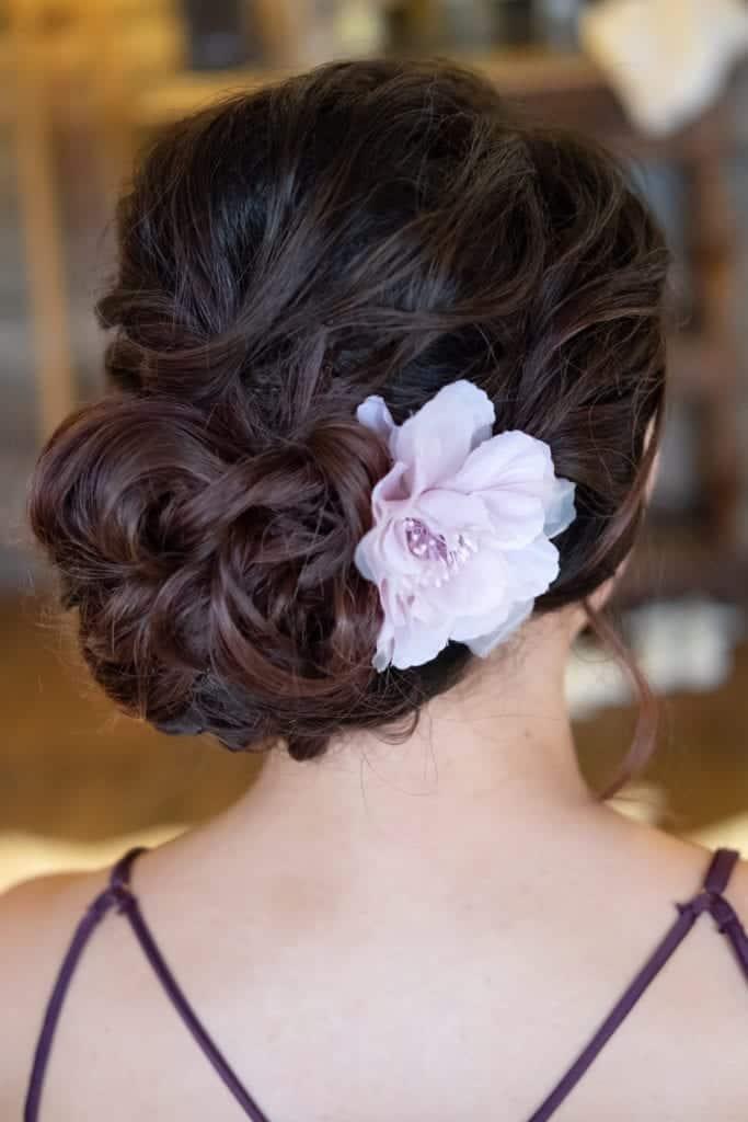 textured wedding updo
