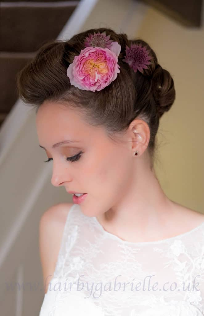 An edgy and romantic updo - one of my favourite bridal looks