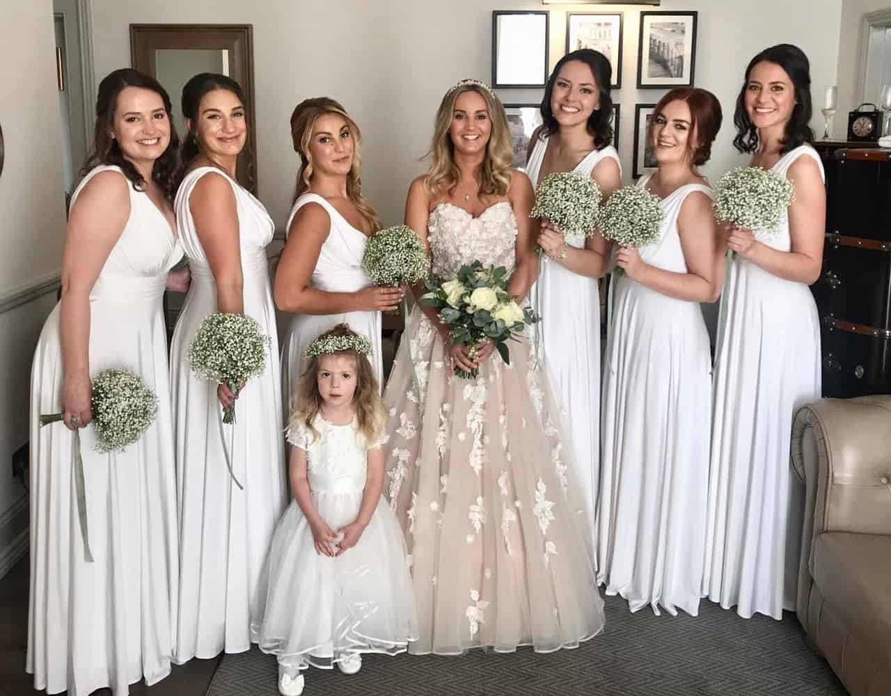 Lots of bridesmaids