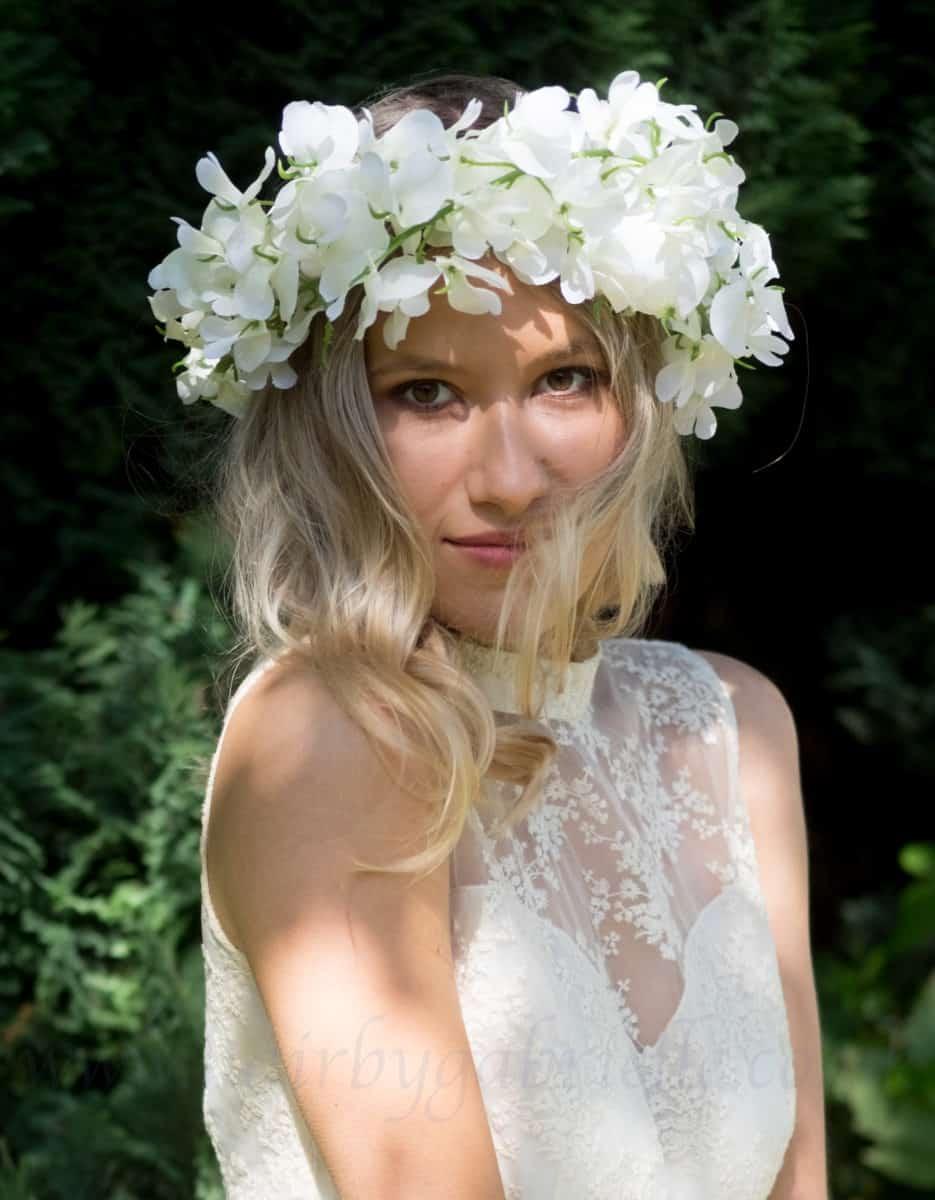 flower crown wedding accessory