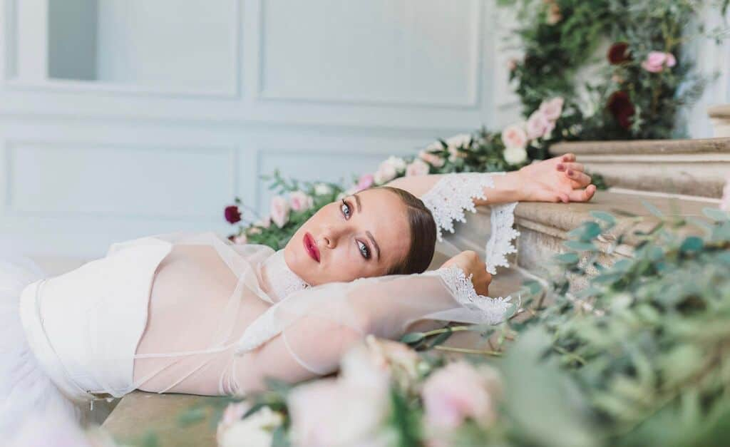 Reclining bride